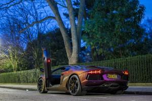 Purple Aventador